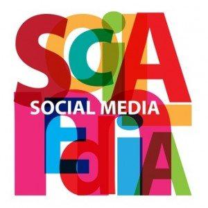 Vector Social Media. Broken text