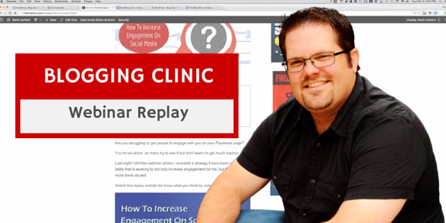 BLOGGING CLINIC REPLAY