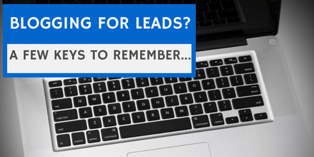 BLOGGING FOR LEADS-