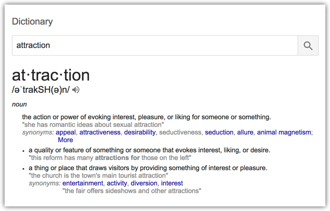 The Definition of Attraction
