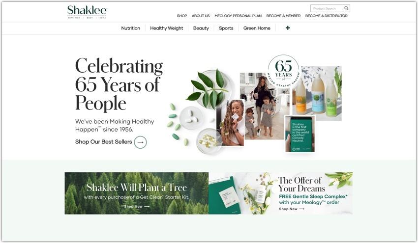 Shaklee Corporation Website