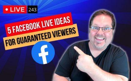 Facebook live ideas